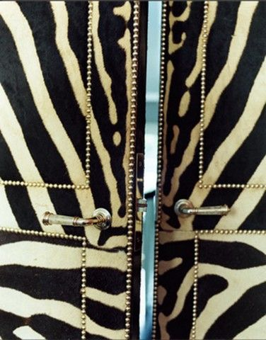 zebra studded doors